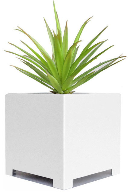 Alora Cube Planter Contemporary Indoor Pots And
