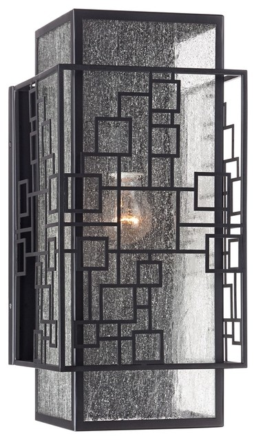 "Contemporary John Timberland Squares 17"" High Bronze Outdoor Wall Light"