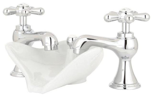 Pegasus Series 6100 8in Widespread 2 Handle Low Arc Bathroom Faucets Chrome