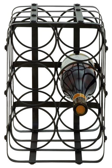 benzara classy metal wine holder - Metal Wine Rack