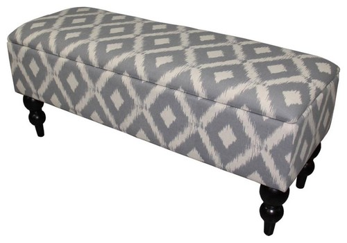 Safari Print Design Tall Storage Bench