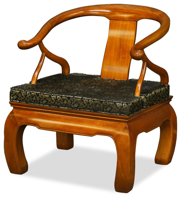Rosewood Chow Leg Monk Chair Asian Armchairs And Accent Chairs - Asian chair asian