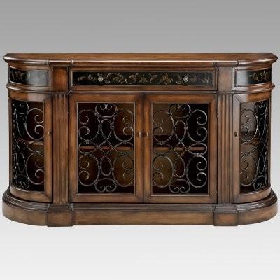 Admirable Stein World Kendel Bookcase Credenza With Iron Work Doors Inzonedesignstudio Interior Chair Design Inzonedesignstudiocom
