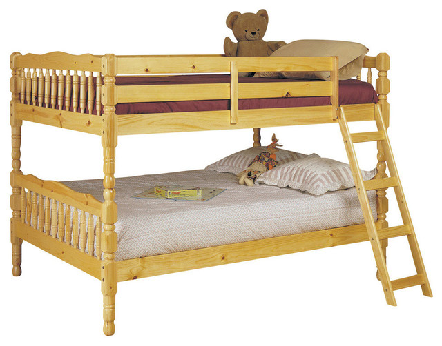Homestead Bunk Bed, Natural, Full Over Full.