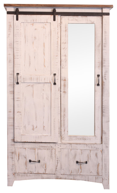 Anton Bedroom Armoire Wardrobe, White