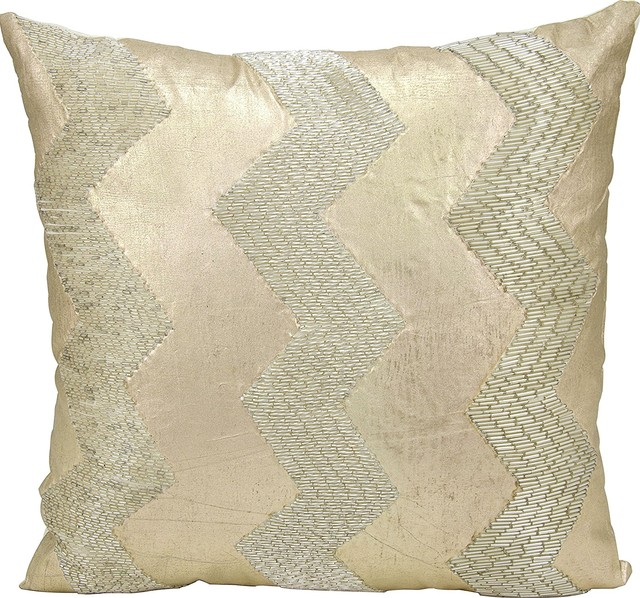 Nourison Mina Victory Luminecence Wide Cheveron AT40 Throw Pillow Mesmerizing Nourison Decorative Pillows