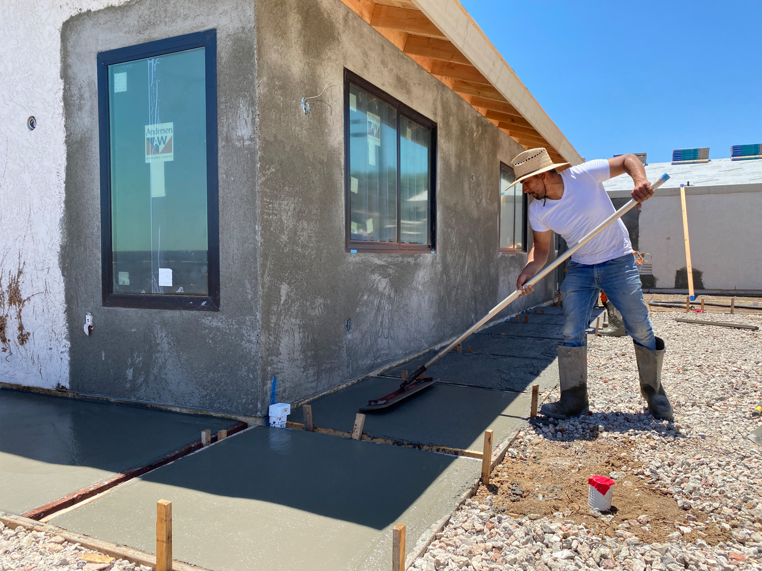 Finishing Concrete Pads - Modern Look