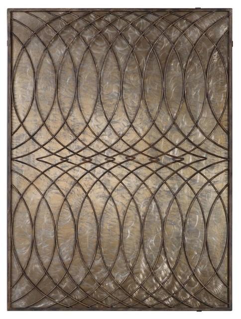 Bronze Metal Wall Art kanza antique bronze wall panel 04071 - metal wall art -