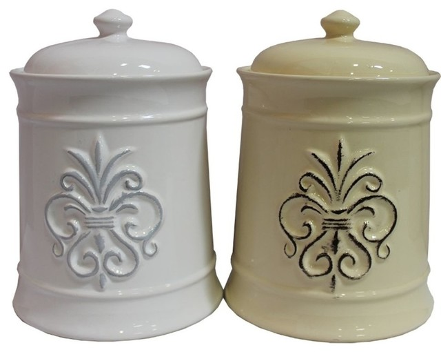 sassy ceramic jars with lid 2 piece set eclectic