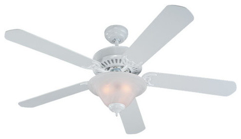 Quality Pro Deluxe Ceiling Fans 3-Light Indoor Ceiling Fans, White.