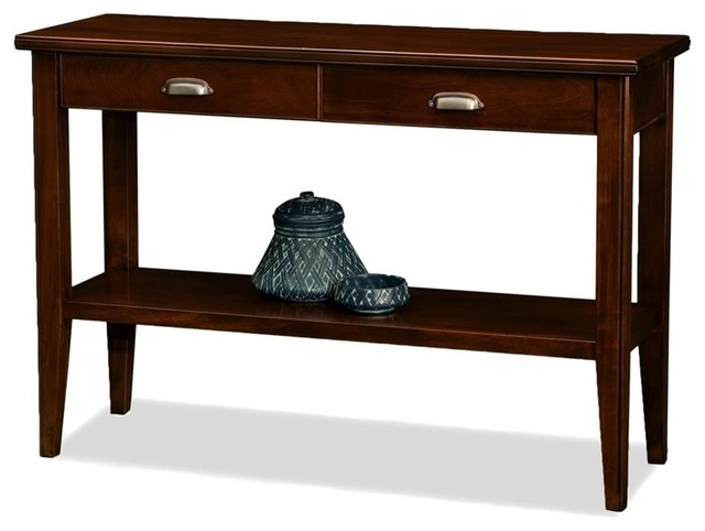 Leick Furniture Laurent Wood Rectangular Console Table Chocolate