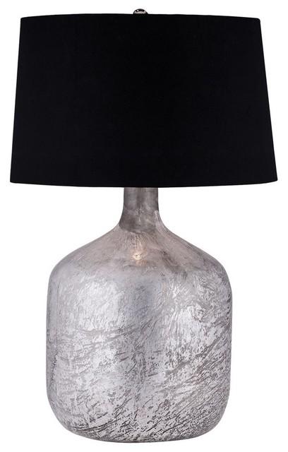 Antique Mercury Glass Jug Lamp.