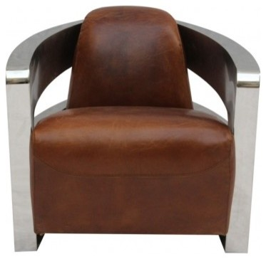 Vintage Style Leather Armchair Modern Armchairs And Accent