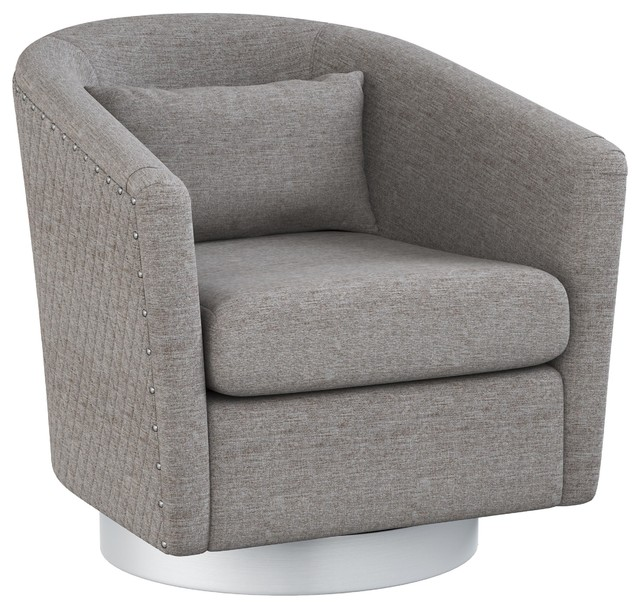 Mychelle Quilted Modern Swivel Tub Chair Contemporary
