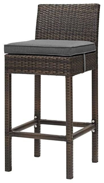 Super Modern Outdoor Bar Stool Rattan Wicker Gray Brown Andrewgaddart Wooden Chair Designs For Living Room Andrewgaddartcom
