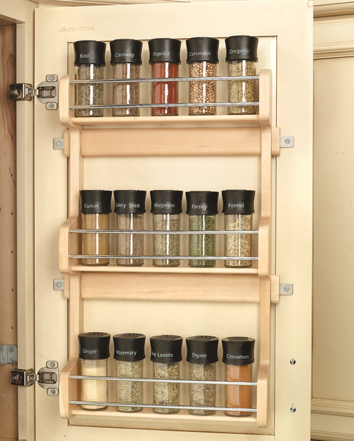 Wood Classics Maple Spice Rack - Spice Jars And Spice ...
