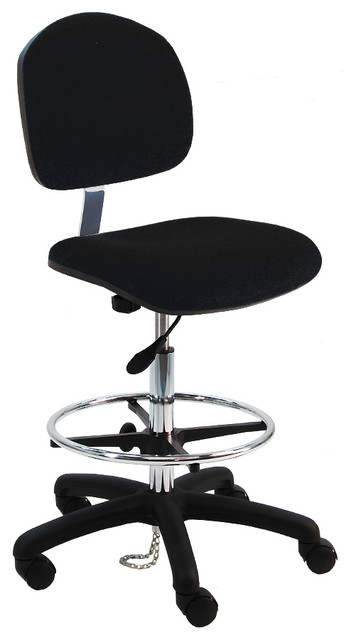 Anti Static Chairs : Ergonomic esd anti static chair with foot ring non