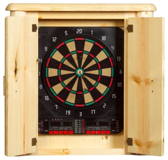 Northwoods Log Dartboard Cabinet Rustic Darts And Dartboards
