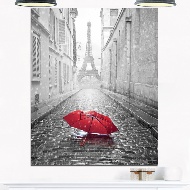 """eiffel View From Paris Street"" Cityscape Photo Metal Wall Art, 30""x40""."