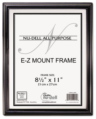 nudell ez mount document frame plastic 8 12 x 11 black