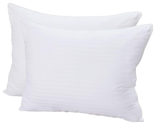 Plush Gel-Fiber Filled Pillows, 1500TC Microfiber, Retain's Shape, King, 2 Pack