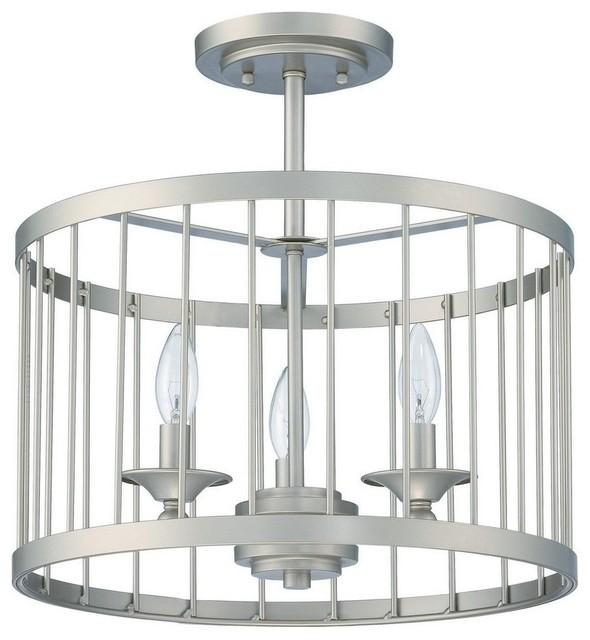 Craftmade Villa 3 Light Cage Semi Flush Transitional