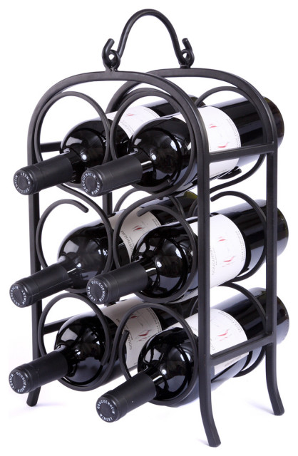 Wine Arch Counter Wine Rack Traditional Wine Racks By