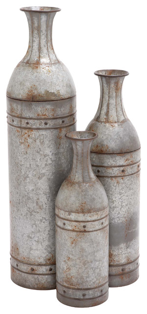 Royce 3-Piece Metal Vase Set
