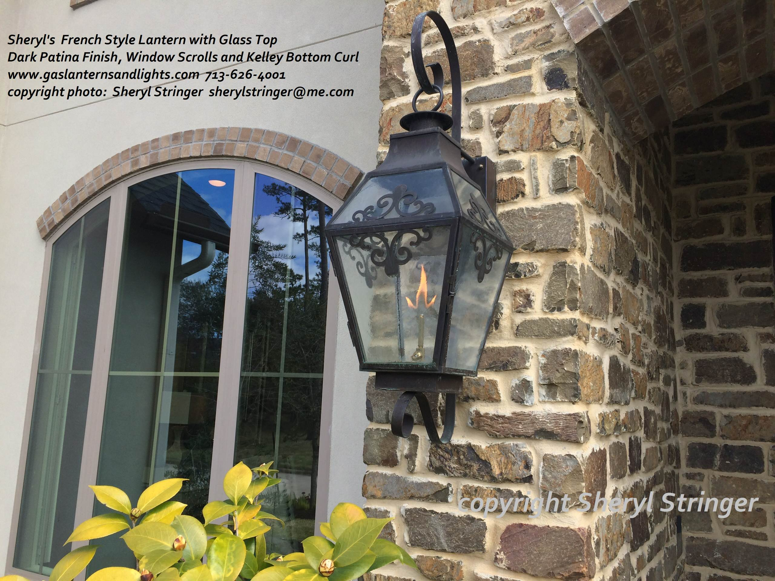 Sheryl's French  Scroll Gas and Electric Lanterns