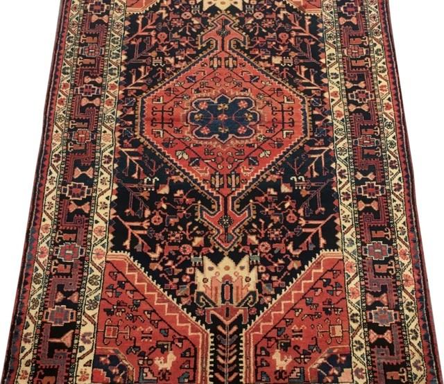Consigned Traditional Rug 4 X8 Hamadan Handmade Wool