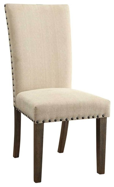 Transitional Dining Side Chairs, Set Of 2.