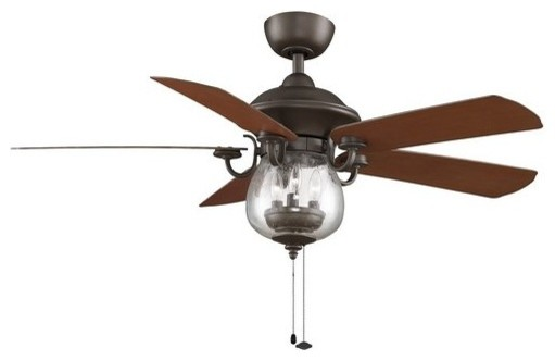 Crestford Ceiling Fan, Oil Rubbed Bronze, 52.