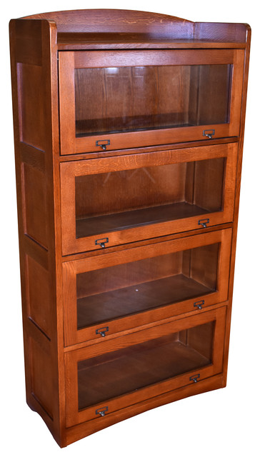 Mission Craftsman Style Quarter Sawn Oak 4 Stack Barrister Bookcase Bookcases By Crafters And Weavers