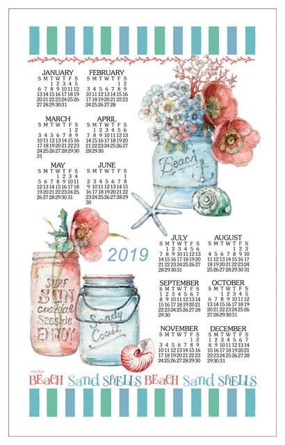 Calendar Towel 2019 - Beach House.