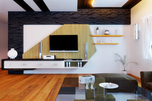 Designer modular tv unit for Latest lcd wall unit designs