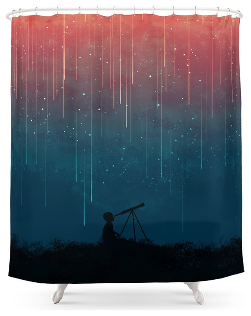 society6 meteor rain shower curtain contemporary. Black Bedroom Furniture Sets. Home Design Ideas