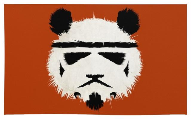 Society6 Panda Trooper Rug, 2u0027X3u0027 Asian Area Rugs