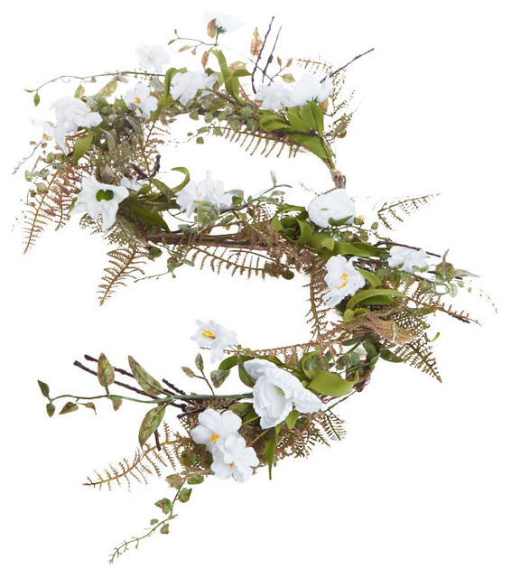 Wildflower And Foliage Garland.