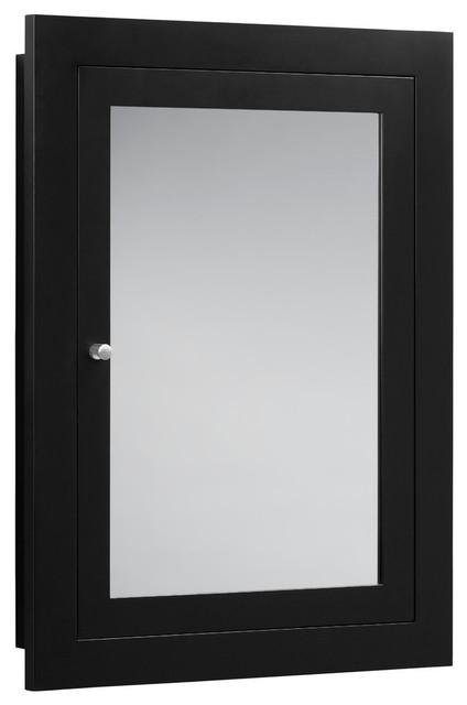 Ronbow Frederick 24 X32 Solid Wood Framed Bathroom Medicine Cabinet Black