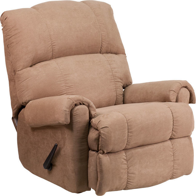Cool Taupe Fabric Rocker Recliner Machost Co Dining Chair Design Ideas Machostcouk