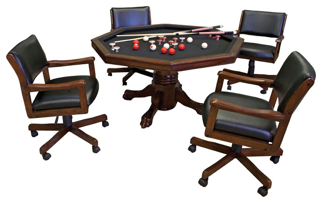 Level Best 3 In 1 Game Table And Rocker Chairs, 5 Piece