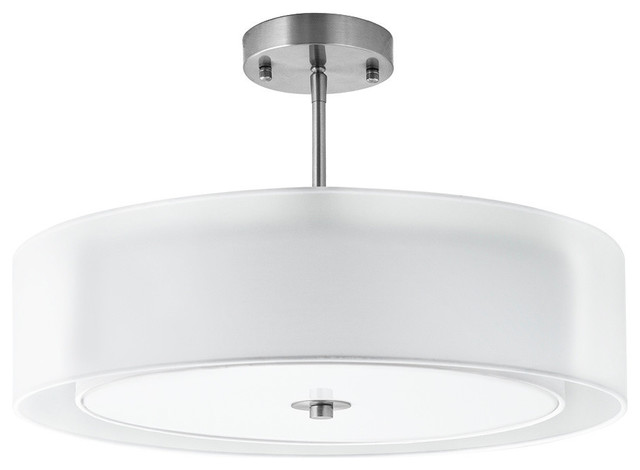 Grazia Double Drum Ceiling Lamp Brushed Nickel