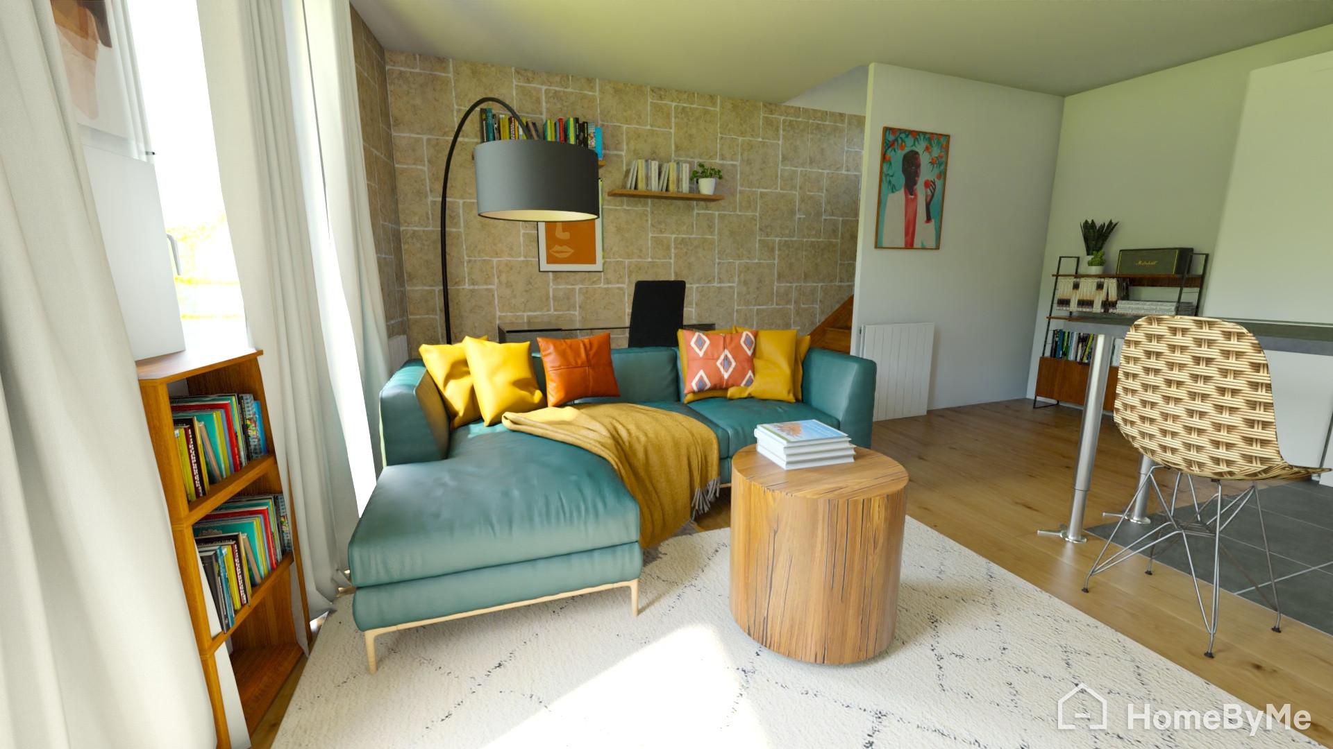 Projet Alfortville - Mise en couleur d'une pièce à vivre