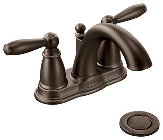 Moen Brantford Oil Rubbed Bronze Two-Handle Bathroom Faucet 6610ORB