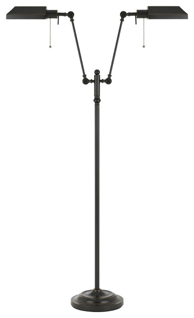 Pharmacy 2-Light Floor Lamps, Dark Bronze