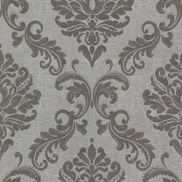 Sebastion Gray Damask Wallpaper, Bolt contemporary-wallpaper - Sebastion Gray Damask Wallpaper - Contemporary - Wallpaper - By