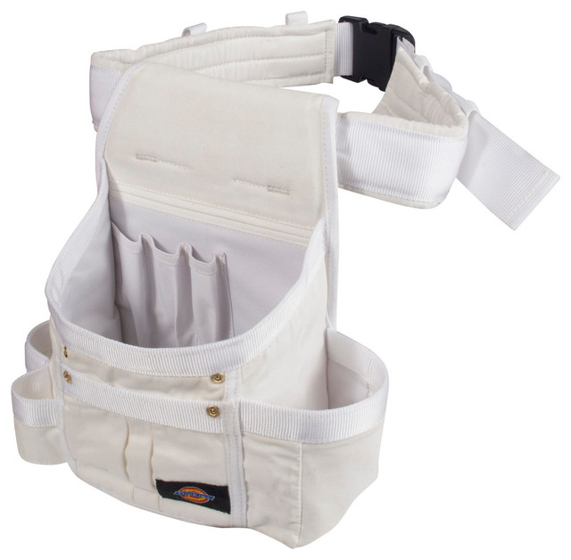 White Painter's 8-Pocket Utility Pouch - Industrial - Garage And Tool Storage - by Steelman