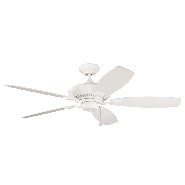 "52"" Canfield Fan, Satin Natural White."