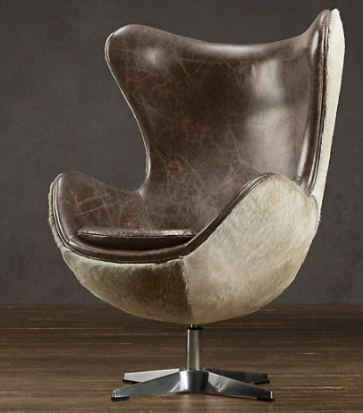 1950s Hair on Hide Copenhagen Chair