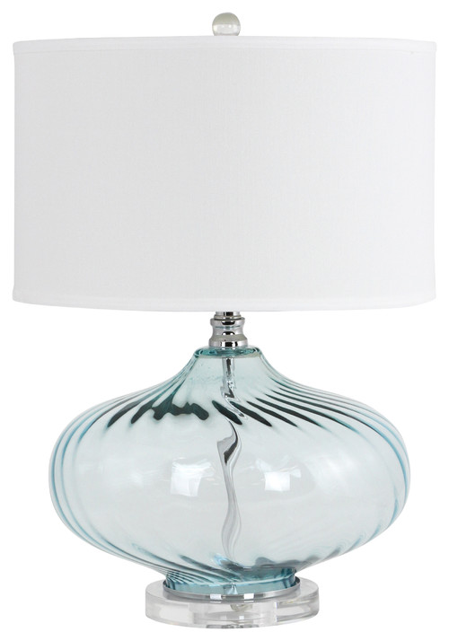 Houzz offered a lamp like this but the glass color was blue not teal